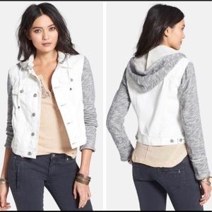 FREE PEOPLE WHITE/GRAY JACKET